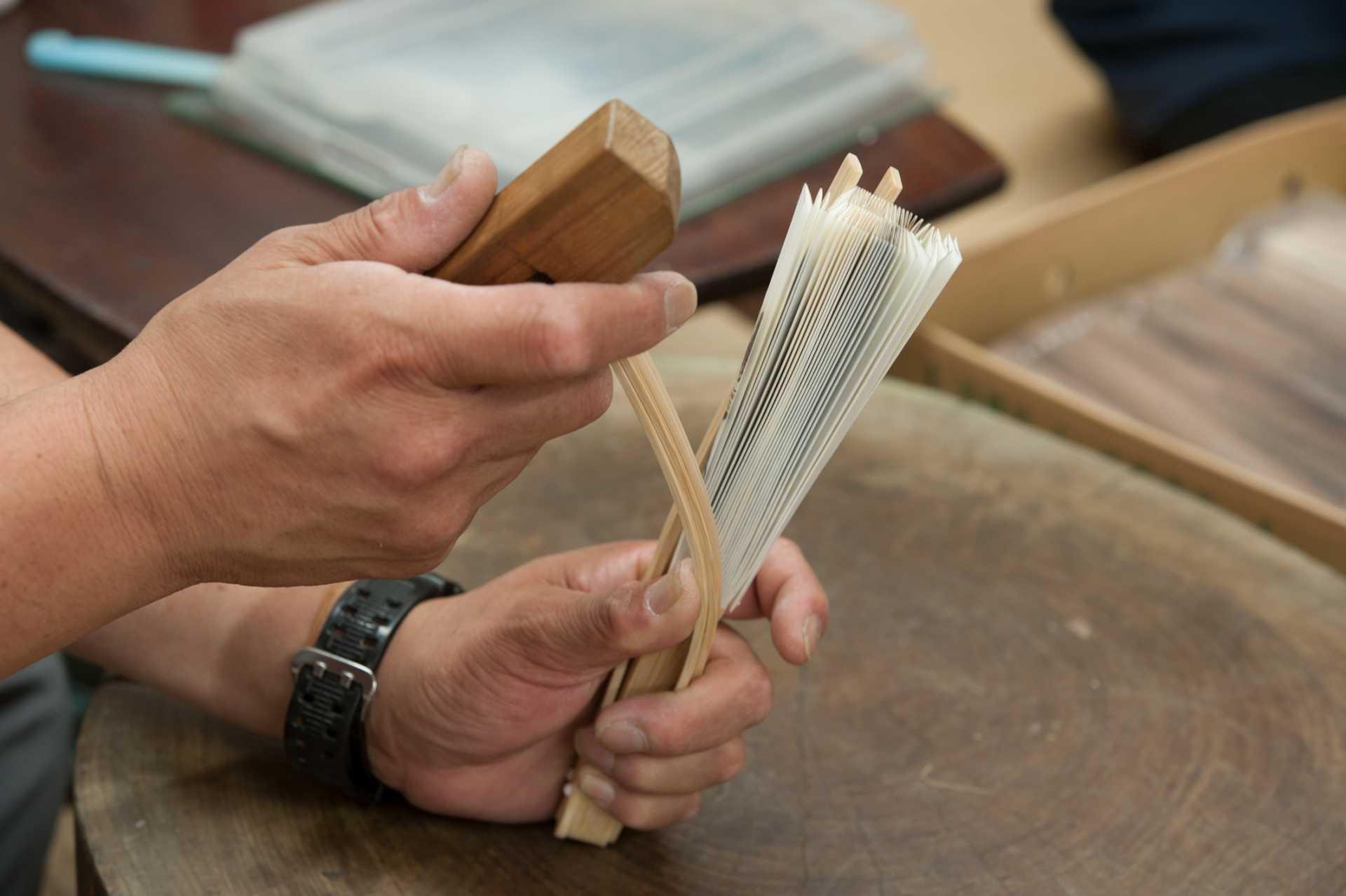 扇子の製造工程イメージ1